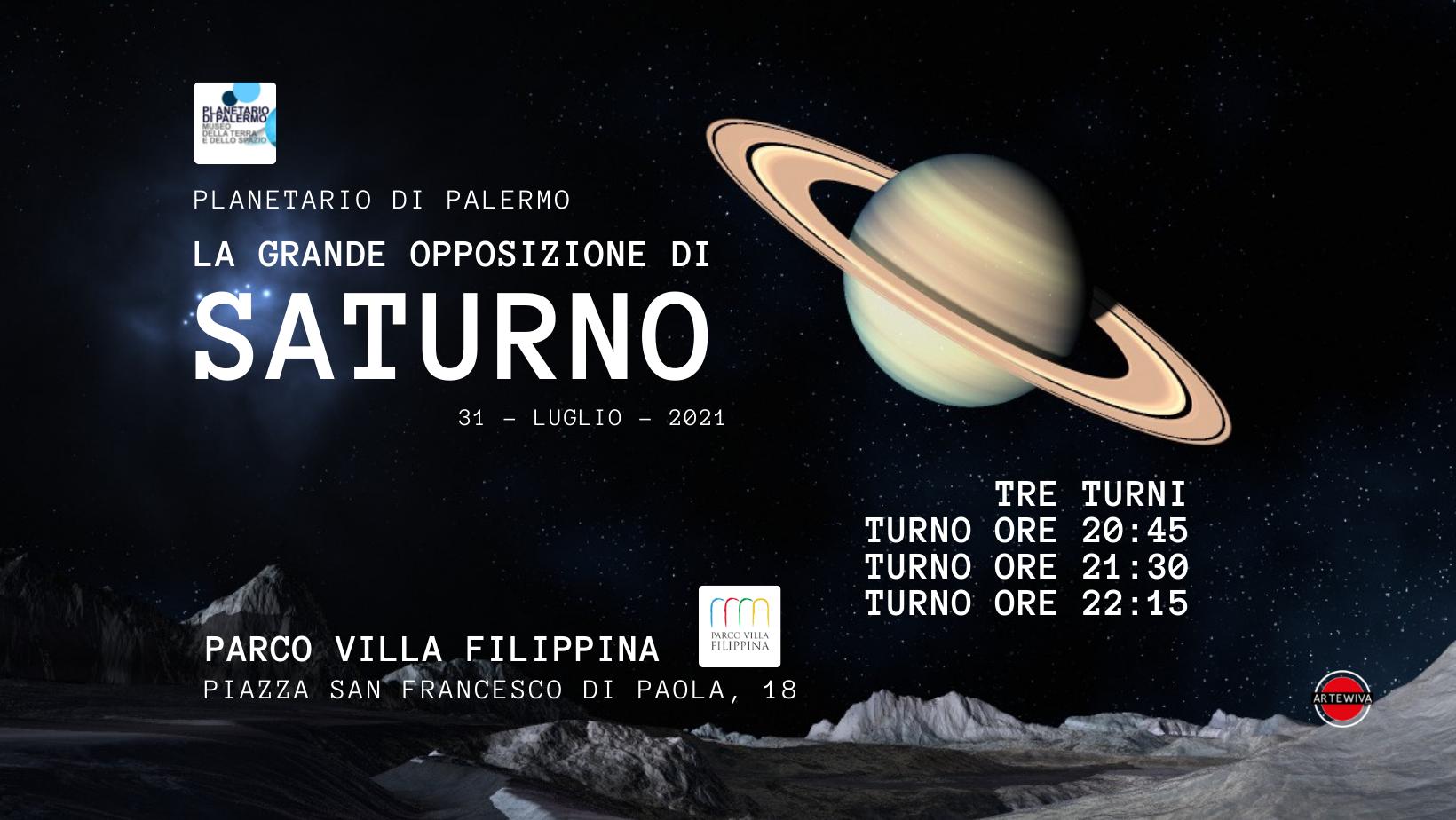 La grande opposizione di Saturno 2021 – TURNO 20:45